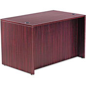 "Alera Desk Shell with Straight Front - 47-1/4""W x 29-1/2""D x 29-1/2h - Mahogany - Valencia Series"