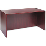 "Alera Desk Shell with Straight Front - 59-1/8""W x 29-1/2""D x 29-1/2h - Mahogany - Valencia Series"