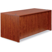 "Alera Desk Shell with Straight Front - 65""Wx29-1/2""Dx29-1/2""H - Med Cherry - Valencia Series"