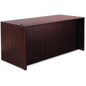 "Alera Desk Shell with Straight Front - 65""W x 29-1/2""D x 29-1/2""H - Mahogany - Valencia Series"