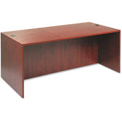"Alera ALEVA217236MC Valencia Series Straight Front Desk Shell, 71""Wx35-1/2""Dx29-1/2""H, Med Cherry"