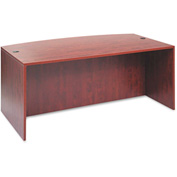 "Alera Desk Shell with Bow Front - 71""W x 41-3/8""D x 29-1/2""H - Med Cherry - Valencia Series"