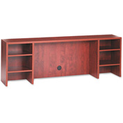 "Alera ALEVA267212MC Valencia Series Organizer hutch, 70-5/8""W x 11-3/4""D x 23-5/8""H, Medium Cherry"