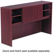 "Alera Hutch Doors for Valencia Series - 14""W x 3/4""D x 15""H - Mahogany - 2/Set"