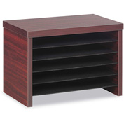 "Alera Under Counter File Organizer Shelf for Valencia Series - 15-3/4""W x 10""D x 11""H - Mahogany"