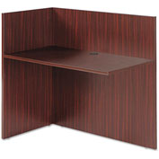 "Alera Reversible Reception Return - 44""W x 23-5/8""D x 41-1/2""H - Mahogany - Valencia Series"