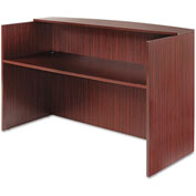 "Alera ALEVA327236MY Valencia Series Reception Desk w/Counter, 71""W x 35-1/2""D x 42-1/2""H, Mahogany"