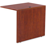 "Alera ALEVA353624MC Valencia Series Reversible Return/Bridge Shell, 35""W x 23-5/8""D, Medium Cherry"