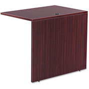 "Alera Reversible Return/Bridge - 35""W x 23-5/8""D - Mahogany - Valencia Series"