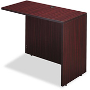 "Alera Reversible Return/Bridge - 42""W x 23-5/8""D - Mahogany - Valencia Series"