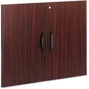 "Alera Cabinet Door Kit For Valencia Series Bookcases - 31 1/4"" x 25 1/4"" - Mahogany"