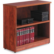 "Alera ALEVA633032MC Valencia Series Bookcase, 2 Shelves, 31-3/4""W x 14""D x 29-1/2""H, Medium Cherry"