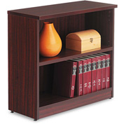 "Alera Bookcase with 2 Shelves - 31-3/4""W x 14""D x 29-1/2""H - Mahogany - Valencia Series"