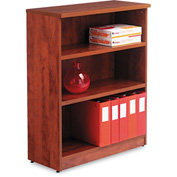 "Alera ALEVA634432MC Valencia Series Bookcase, 3 Shelves, 31-3/4""W x 14""D x 39-3/8""H, Medium Cherry"