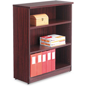 "Alera Bookcase with 3 Shelves - 31-3/4""W x 14""D x 39-3/8""H - Mahogany - Valencia Series"