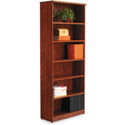 "Alera ALEVA638232MC Valencia Series Bookcase, 6 Shelves, 31-3/4""W x 14""D x 80-3/8""H, Medium Cherry"