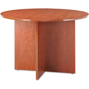 Alera® Round Conference Table, 29-1/2h x 42 dia., Medium Cherry - Valencia Series