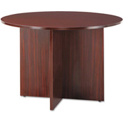 Alera® Round Conference Table, 29-1/2h x 42 dia., Mahogany - Valencia Series