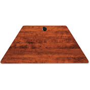 Alera® Valencia Series Training Table Top, Trapezoid, 48w x 24d, Medium Cherry