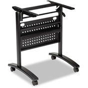 Alera Training Table Base, Modesty Panel, 24w x 20d, Black Valencia Series