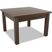 Alera® Valencia Series Occasional Table, Square, 23-5/8w x 23-5/8d x 20h, Mahogany