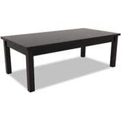 Alera® Valencia Series Occasional Table, Rectangle, 47-1/4w x 20d x 16h, Black