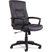 Alera® Executive Leather Chair with Swivel - High Back - Black - YR Series