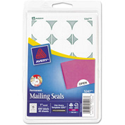 "Avery® Print or Write Mailing Seals, 1"" Dia., White, 600/Pack"