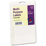 Avery® Print or Write Removable Multi-Use Labels, 3 x 5, White, 40/Pack