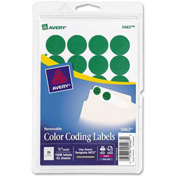 """Avery® Print or Write Removable Color-Coding Labels, 3/4"""" Dia, Green, 1008/Pack"""