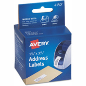 Avery Thermal Printer Labels, Address, 1-1 8 x 3-1 2, White, 260 Labels Box