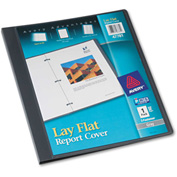 "Avery® Lay Flat Report Cover, Flex Fastener, Letter, 1/2"" Capacity, Clear/Gray"