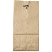 "Grocery Paper Bags 5"" x 3-1/3"" x 9-3/4"" Brown - 500 Pack"