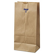 """Grocery Paper Bags 6-1/8"""" x 4-1/8"""" x 12-7/16"""" Brown - 500 Pack"""