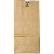 "Grocery Paper Bags 7-3/4"" x 4-13/16"" x 16"" Brown - 250 Pack"