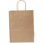 "Paper Shopping Bags 10"" x 13"" x 10"" Kraft- 250 Pack"