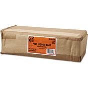 """Grocery Pint-Sized Paper Bags for Liquor Takeout 3-3/4"""" x 2-1/4"""" x 11-1/4"""" Brown - 500 Pack"""