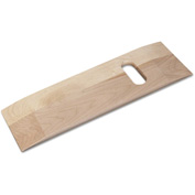 """DMI® Deluxe Wood Transfer Board with Cut-Outs, 1-Cut Out, 24""""W x 8""""D, 440 lb. Capacity"""