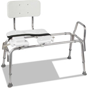 "DMI® Heavy-Duty Sliding Transfer Bench with Cut-Out Seat, 19""- 23"" Seat Height, 15"" x 19"" Seat"