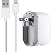 Belkin MOB Swivel Charger, 10 Watt, 2.1 Amp, Detachable Lightning Cable
