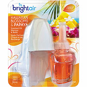 Bright Air Electric Scented Oil Air Freshener Warmer/Refill, Hawaiian Blossoms & Papaya 900254EA