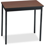 Barricks BRKUT183030WA Utility Table,Rectangular,30w x 18d x 30h,Walnut