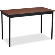 Barricks BRKUT244830WA Utility Table,Rectangular,48w x 24d x 30h,Walnut