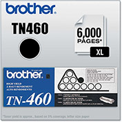 Brother® TN460 High-Yield Toner, 6000 Page-Yield, Black
