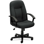 basyx® by HON® Executive Office Chair - Mid Back - Black