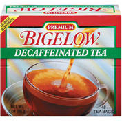 Bigelow Premium Tea, Black Tea, Decaffeinated, 8 Oz Single Cup Bags, 48/Box
