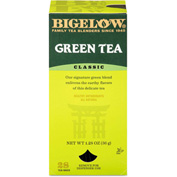 Bigelow Single Flavor Tea, Green, 8 Oz Single Cup Bags, 28/Box