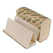 Green Folded Paper Towels, Multi-Fold, Natural WE, 9-1/8w x 9-1/2l, 4000/Carton - BWK10GREEN