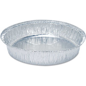 "Round Aluminum To-Go Containers 9"" Diameter - 500 Pack"