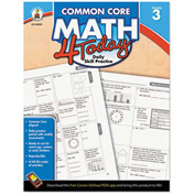 Carson-Dellosa Publishing Common Core 4 Today Workbook, Math, Grade 3, 96 pages